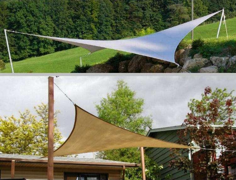 Solsejl til at give skygge på veranda