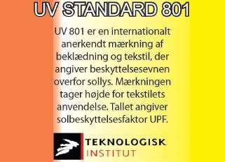 UV standard beskyttelse for solsejl
