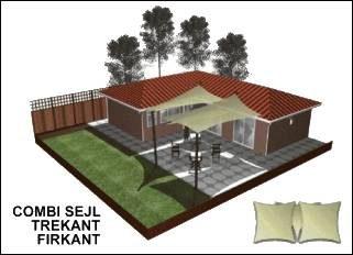 3D forslag til drage-solsejl